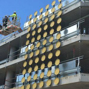 installing a green façade