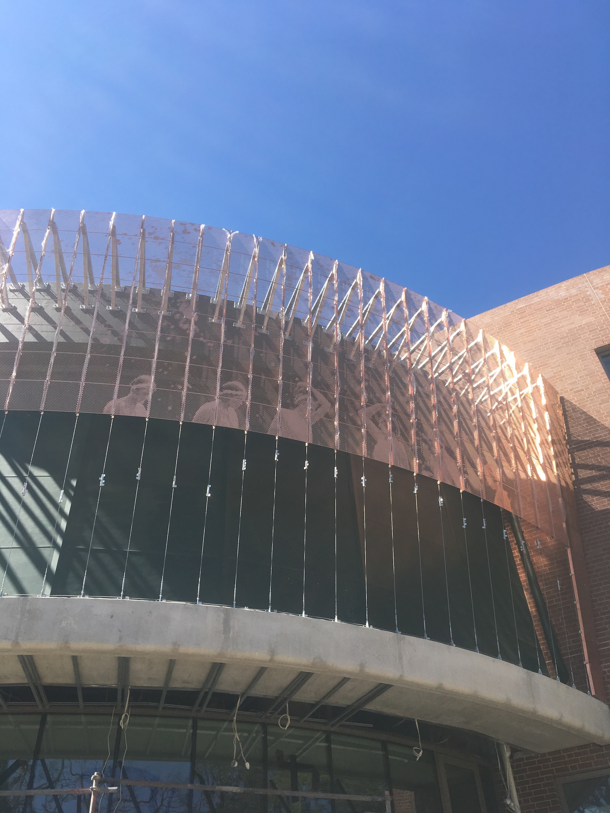 Tensile Contributes to Sydney University College Makeover / Supported Mesh Facade / Tensile Design & Construct