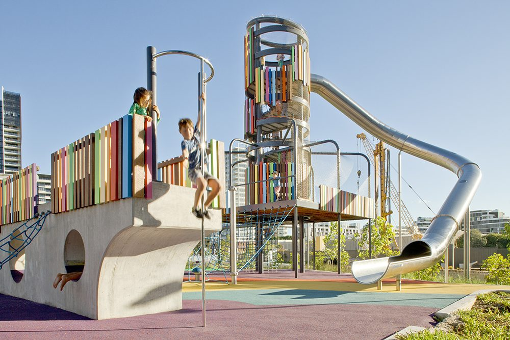 Why Webnet Mesh is so Effective for Children's Playgrounds / Tensile Design & Construct