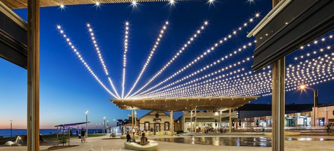 How Catenary Lighting Lets You Use Outdoor Spaces Longer / Tensile Design & Construct