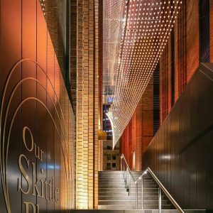 Creating Outdoor Architecture Spaces with Catenary Lighting / Tensile Design & Construct
