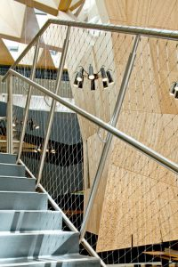 How Webnet Mesh Barriers Help Manage Fall Risk at Work / Tensile Design & Construct