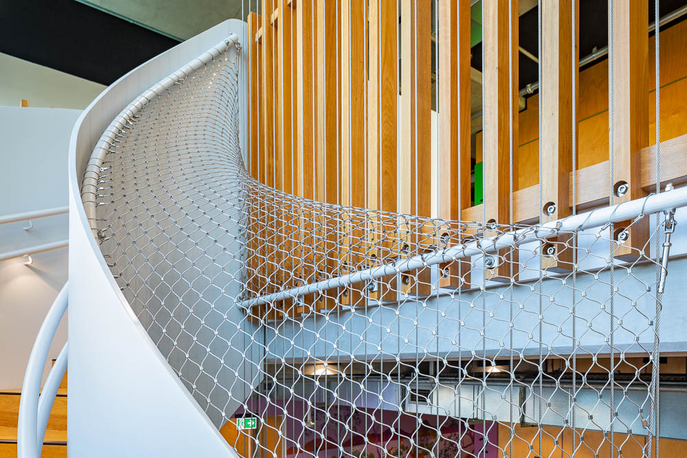 Fall Protection for Spiral Staircases and Curved Structures / Tensile Design & Construct