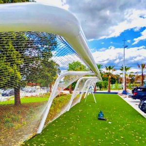 Webnet Mesh Barriers for Sporting Fields and Playgrounds / Tensile Design & Construct
