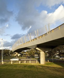 Fall Protection for Pedestrian Bridges with Irregular Design / Tensile Design & Construct