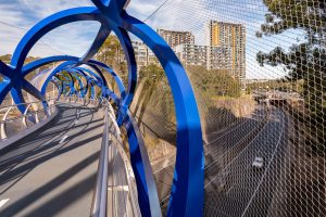 Barrier Considerations for Footbridges Over Busy Roads / Tensile Design & Construct